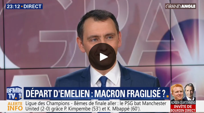 Laurent Jacobelli sur BFM TV
