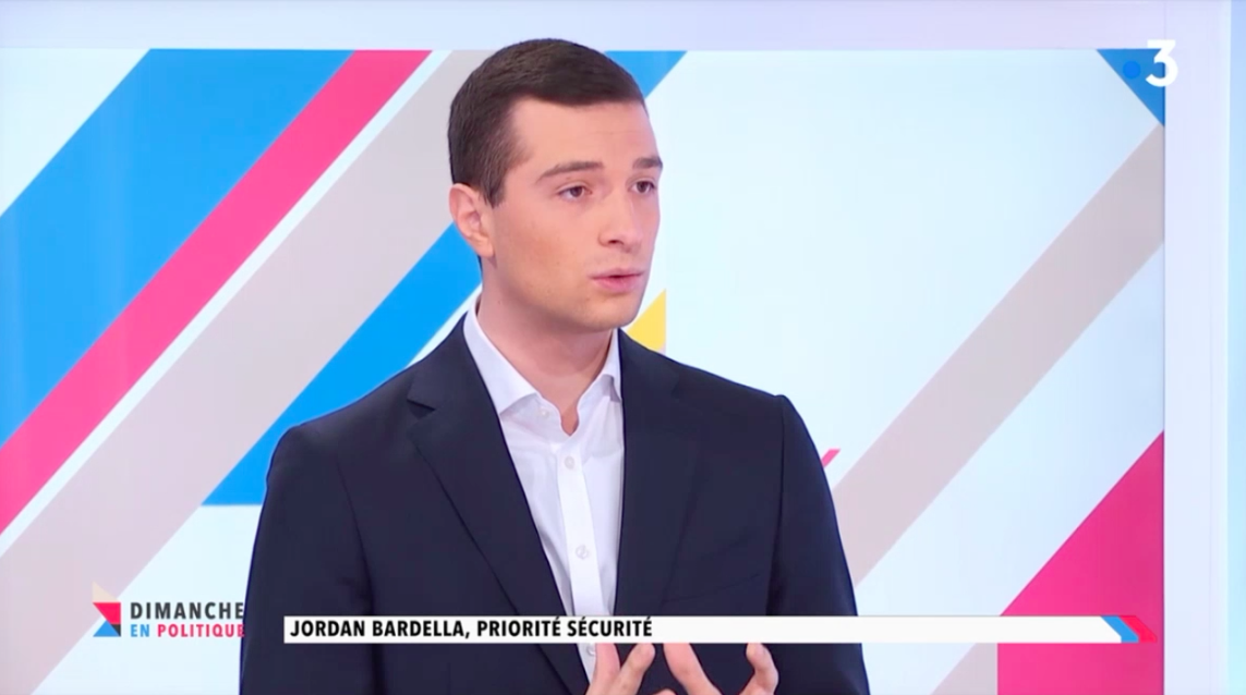 Jordan Bardella invité de France 3 Paris Île-de-France